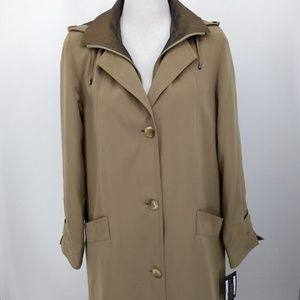 New Gallery 6 Trench Coat Beige Taupe Removable